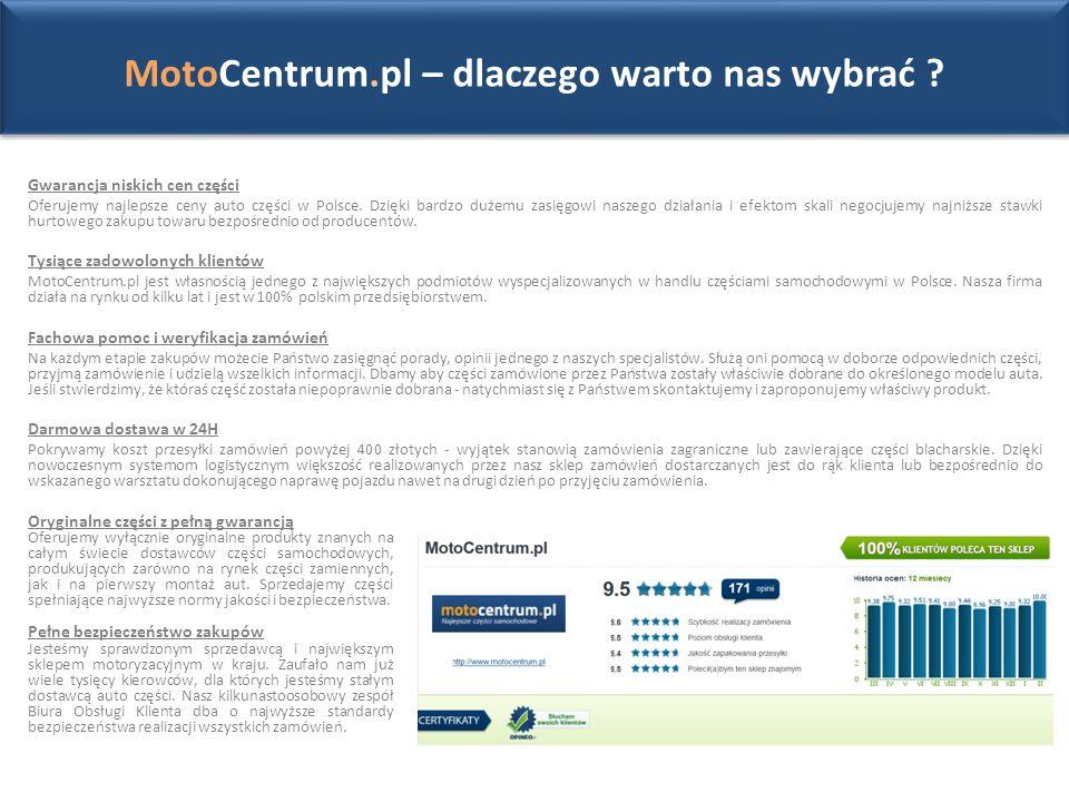 Gwarancja niskich cen części Oferujemy najlepsze ceny auto części w Polsce.
