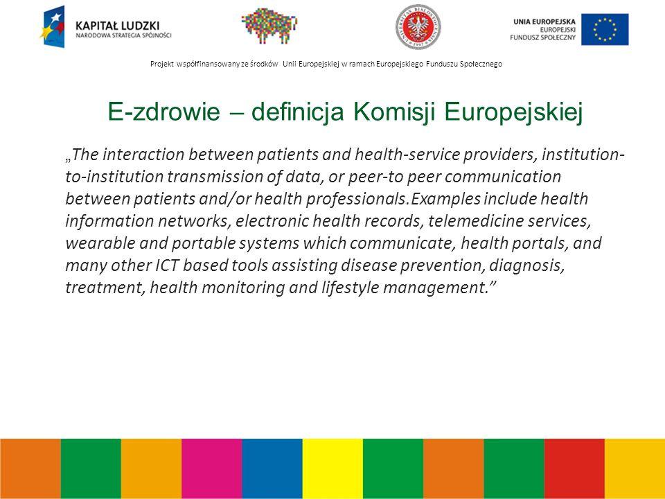 Projekt współfinansowany ze środków Unii Europejskiej w ramach Europejskiego Funduszu Społecznego Dostępność usług