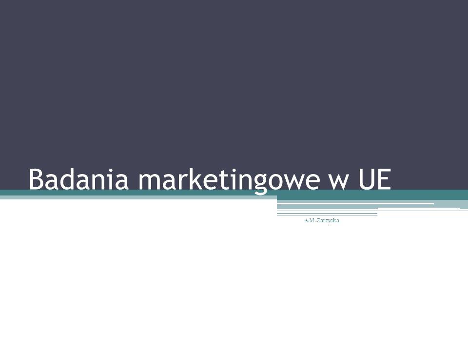 Badania marketingowe w UE A.M. Zarzycka
