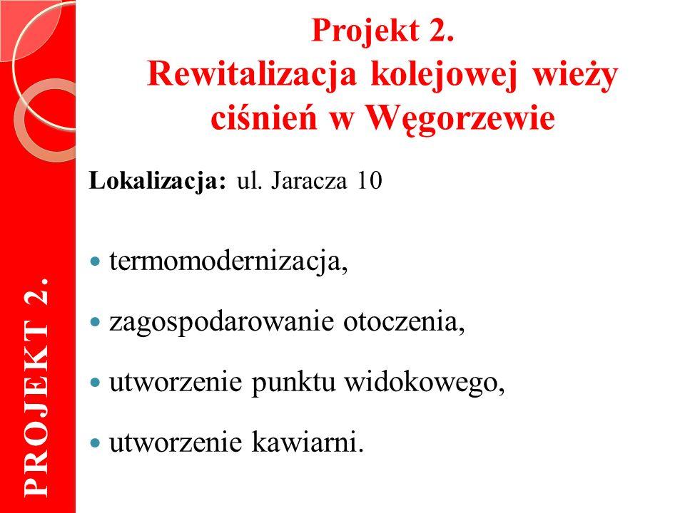 Projekt 2. Rewitalizacja kolejowej wieży ciśnień w Węgorzewie Lokalizacja: ul.
