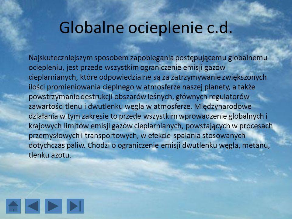 Globalne ocieplenie c.d.