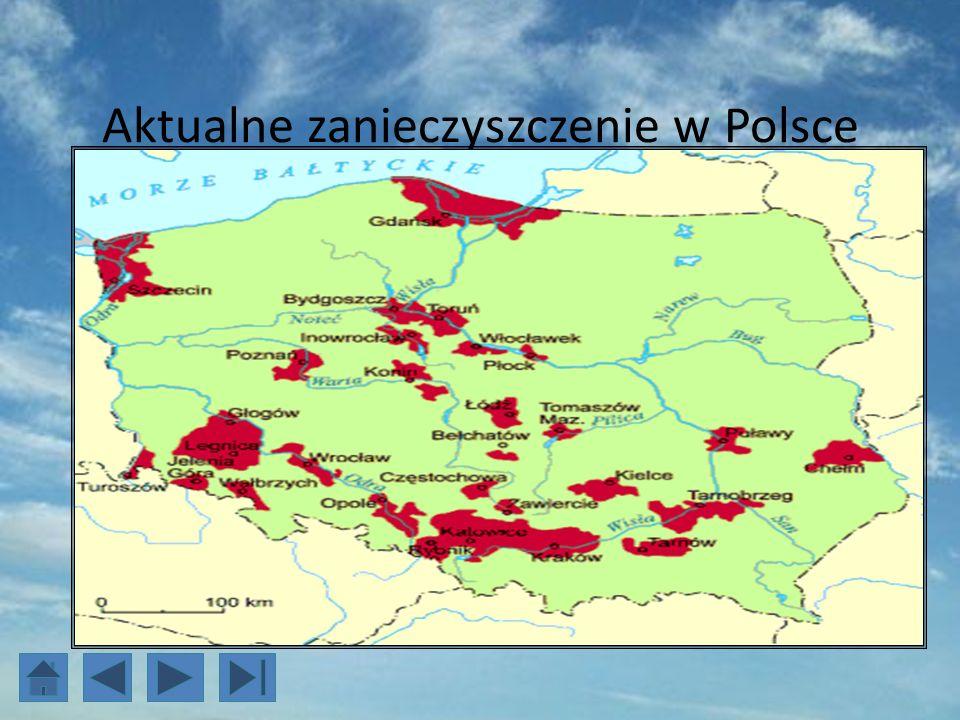 Aktualne zanieczyszczenie w Polsce
