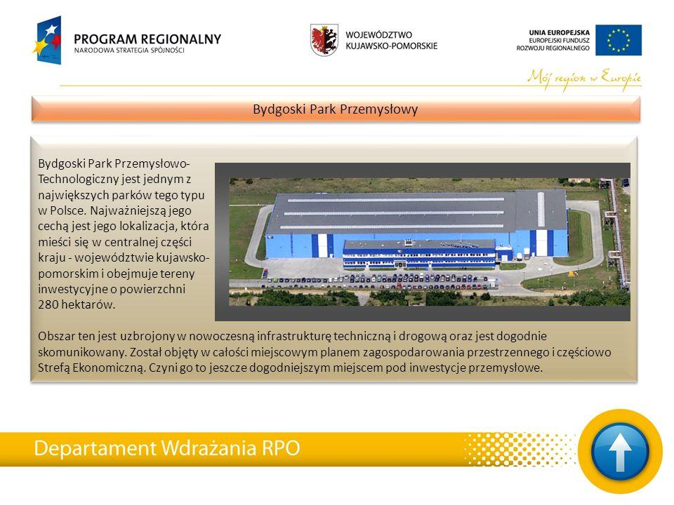 12 Bydgoski Park Przemysłowy Bydgoski Park Przemysłowo- Technologiczny jest jednym z największych parków tego typu w Polsce. Najważniejszą jego cechą