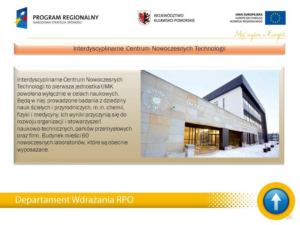 Interdyscyplinarne Centrum Nowoczesnych Technologii to pierwsza jednostka UMK powołana wyłącznie w celach naukowych. Będą w niej prowadzone badania z