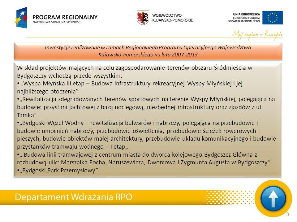 24 Inwestycje realizowane w ramach Regionalnego Programu Operacyjnego Województwa Kujawsko-Pomorskiego na lata 2007-2013 Dzięki kolejnym ponad 6 milionom złotych wsparcia nowy blask zyskał też Zielony Rynek.