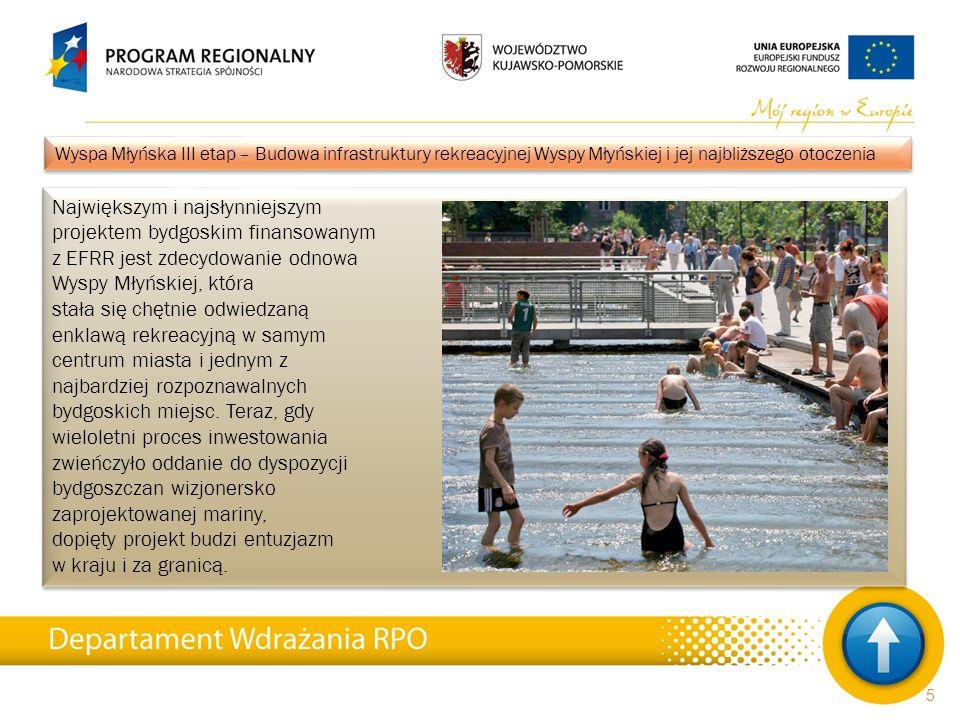 """26 Inwestycje realizowane w ramach Regionalnego Programu Operacyjnego Województwa Kujawsko-Pomorskiego na lata 2007-2013 Pierwszy etap szeroko zakrojonej inwestycji, której celem była rewitalizacja historycznej części uzdrowiskowej """"miasta na soli , zakończono jeszcze w maju 2010."""