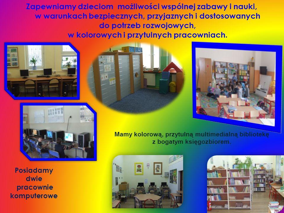 Zapewniamy dzieciom możliwości wspólnej zabawy i nauki, w warunkach bezpiecznych, przyjaznych i dostosowanych do potrzeb rozwojowych, w kolorowych i przytulnych pracowniach.