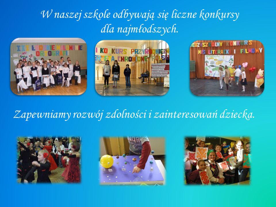 W naszej szkole odbywają się liczne konkursy dla najmłodszych.