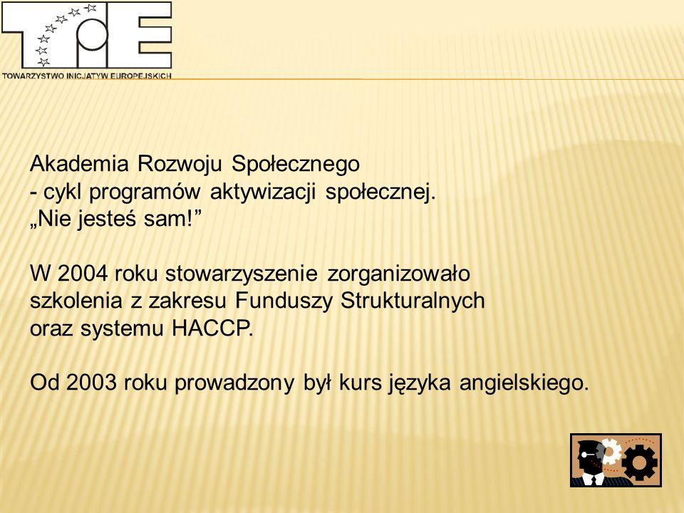 Akademia Rozwoju Społecznego - cykl programów aktywizacji społecznej.