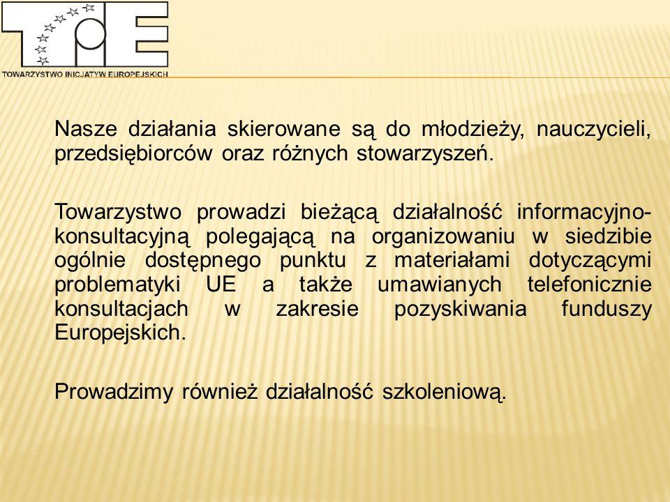 Towarzystwo Inicjatyw Europejskich jest członkiem:  Komitetu Monitorującego Narodowy Plan Rozwoju powołanego przez rząd Polski, przedstawiciele stowarzyszenia - Pan Tomasz Saryusz-Wolski oraz Pani Elżbieta Królikowska uczestniczą w posiedzeniach Komitetu oraz dwóch Podkomitetów ds.