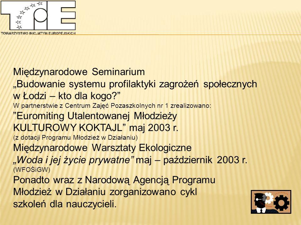 """2008 """"Małe Przedszkole w Każdej Wsi """"Nowy Impuls - dotacje na projekty rozwojowe szkół wiejskich województwa łódzkiego """"Stymulowanie powstawania mikroprzedsiębiorstw jako istotnego instrumentu wspierania samozatrudnienia i przeciwdziałania bezrobociu"""