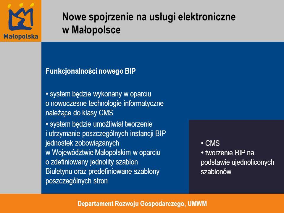 Funkcjonalności nowego BIP system będzie wykonany w oparciu o nowoczesne technologie informatyczne należące do klasy CMS system będzie umożliwiał twor