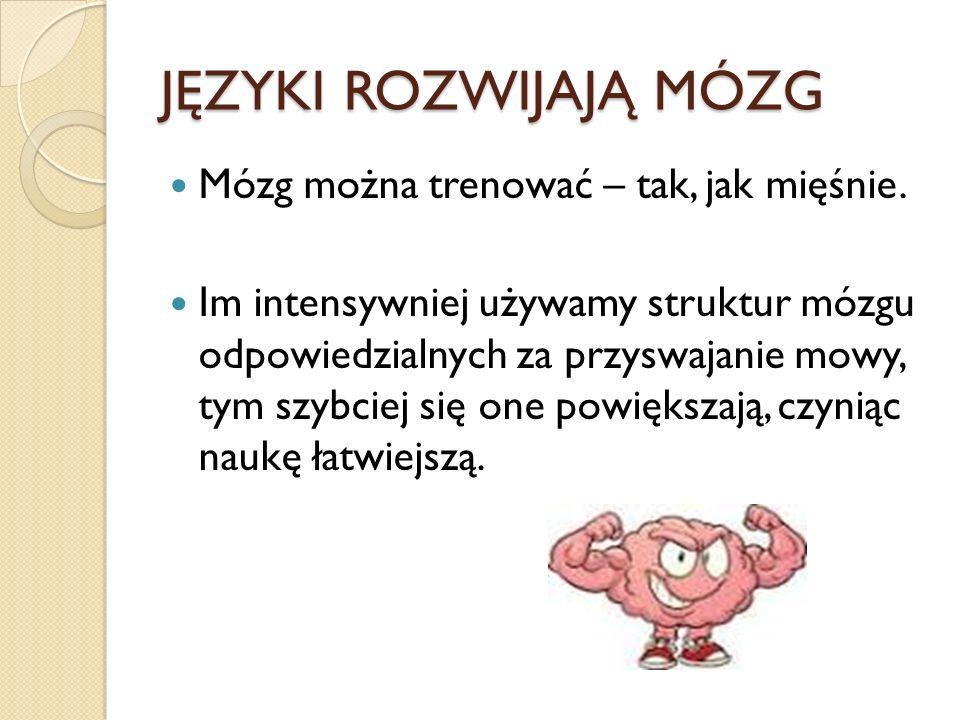 Stąd wniosek, że jeśli ktoś zna kilka języków, łatwiej jest mu nauczyć się kolejnego.