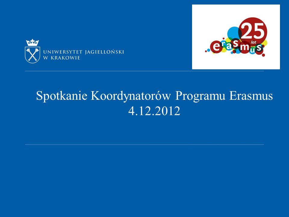 Spotkanie Koordynatorów Programu Erasmus 4.12.2012