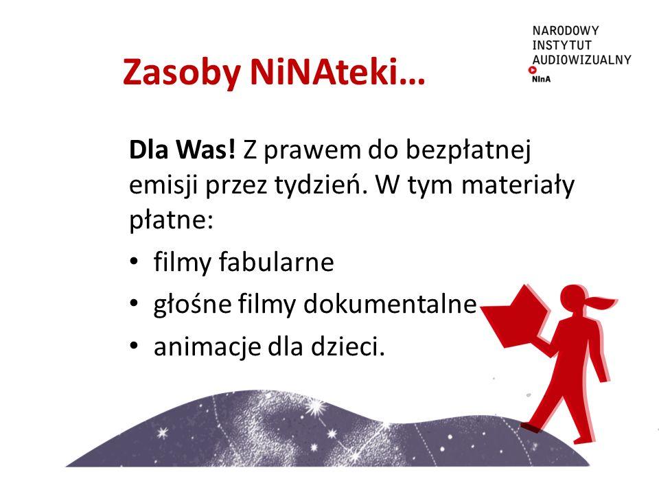 Zasoby NiNAteki… Dla Was. Z prawem do bezpłatnej emisji przez tydzień.
