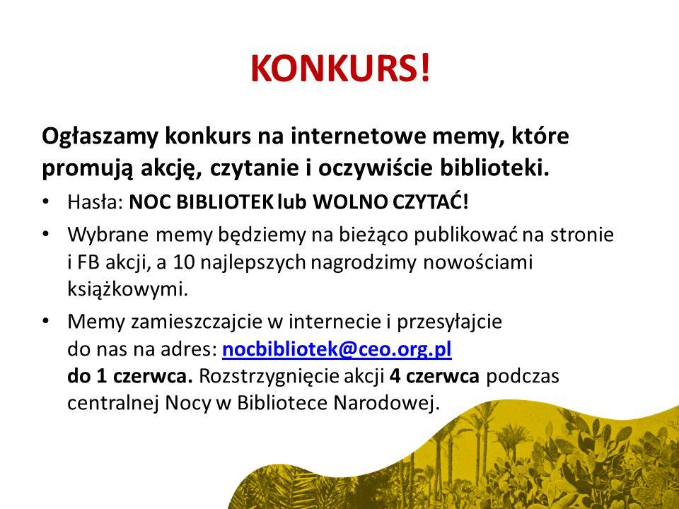 Ogłaszamy konkurs na internetowe memy, które promują akcję, czytanie i oczywiście biblioteki.