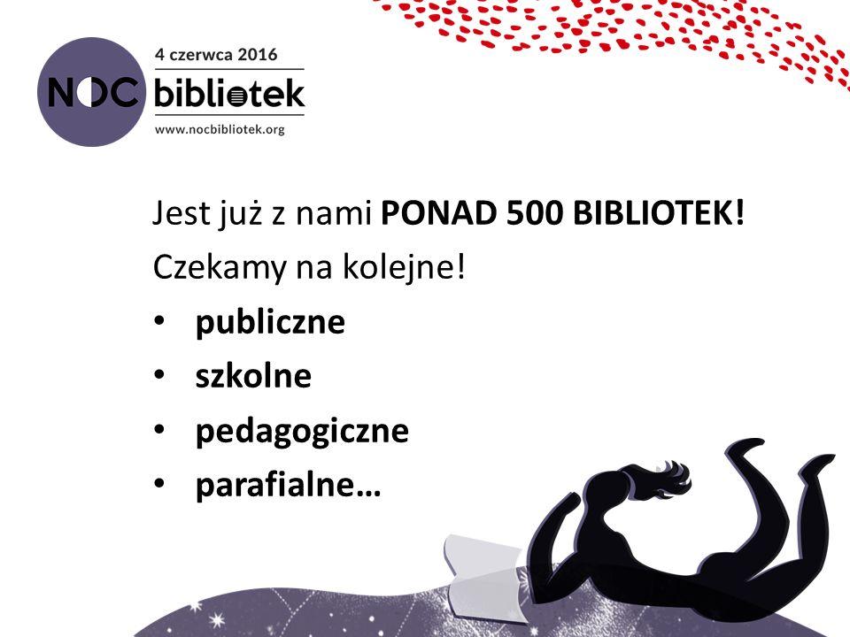 Jest już z nami PONAD 500 BIBLIOTEK! Czekamy na kolejne! publiczne szkolne pedagogiczne parafialne…