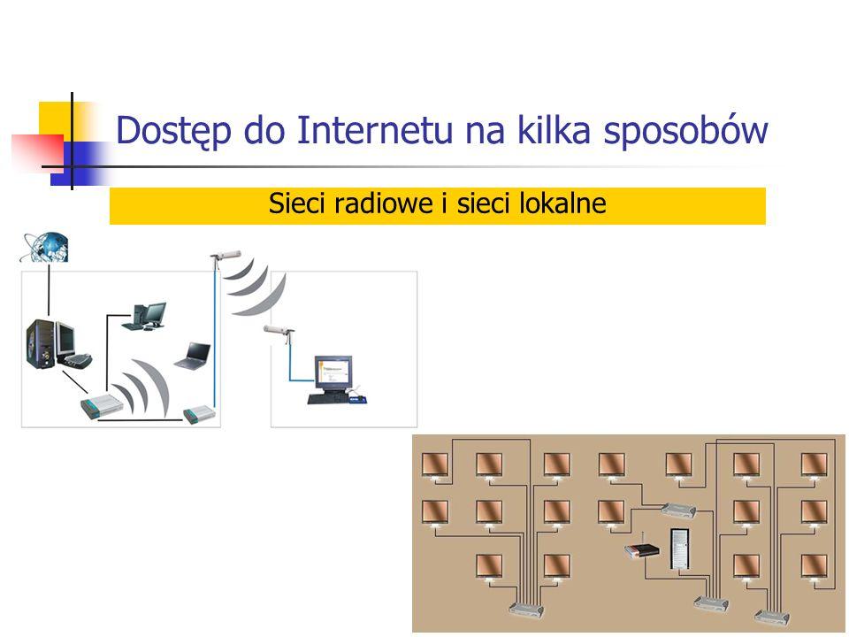 Dostęp do Internetu na kilka sposobów Sieci radiowe i sieci lokalne