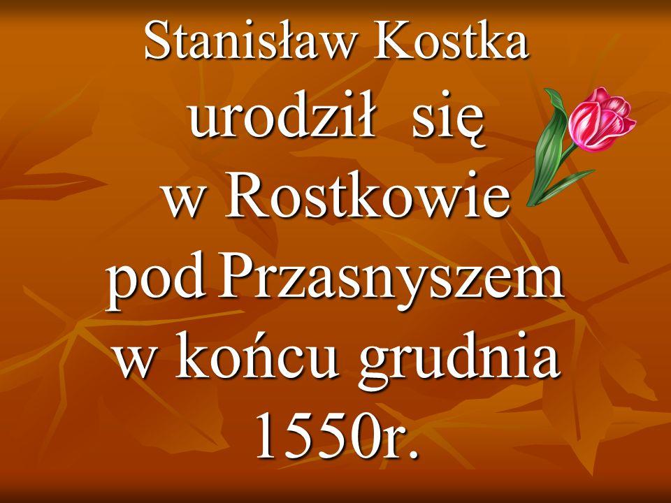Stanisław Kostka urodził się w Rostkowie pod Przasnyszem w końcu grudnia 1550r.
