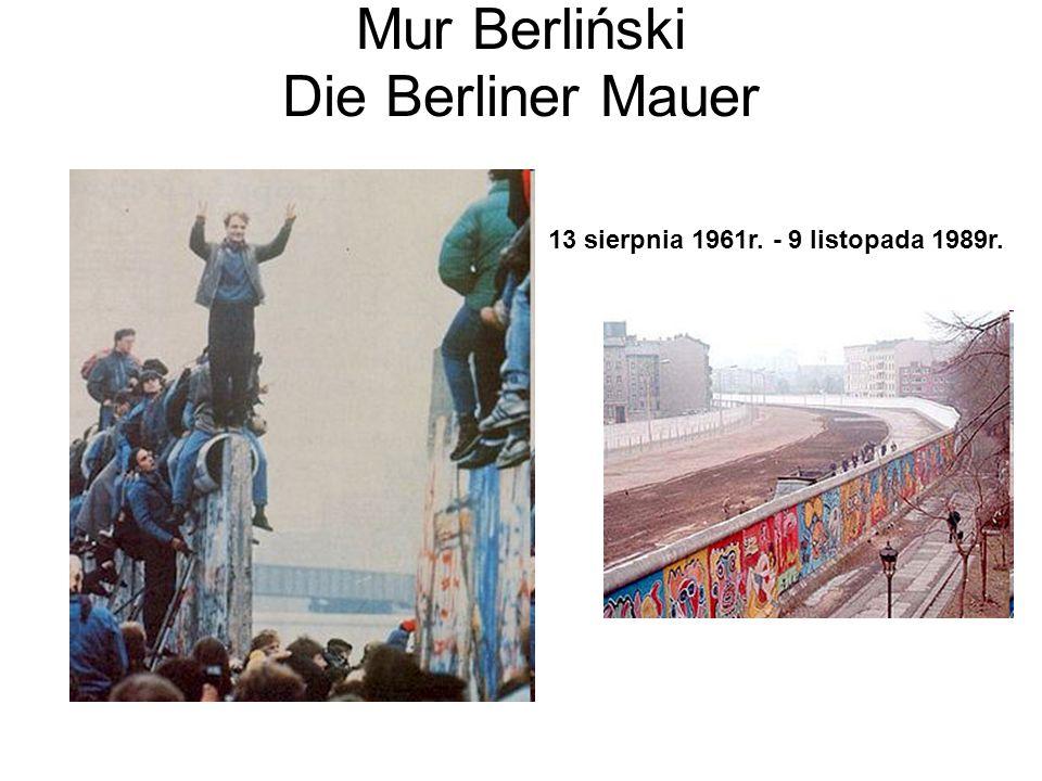 Mur Berliński dziś Pozostałości Muru Berlińskiego Graffiti na murze