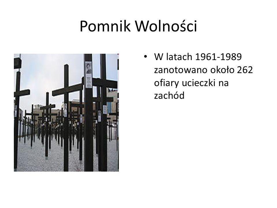 Pomnik Wolności W latach 1961-1989 zanotowano około 262 ofiary ucieczki na zachód