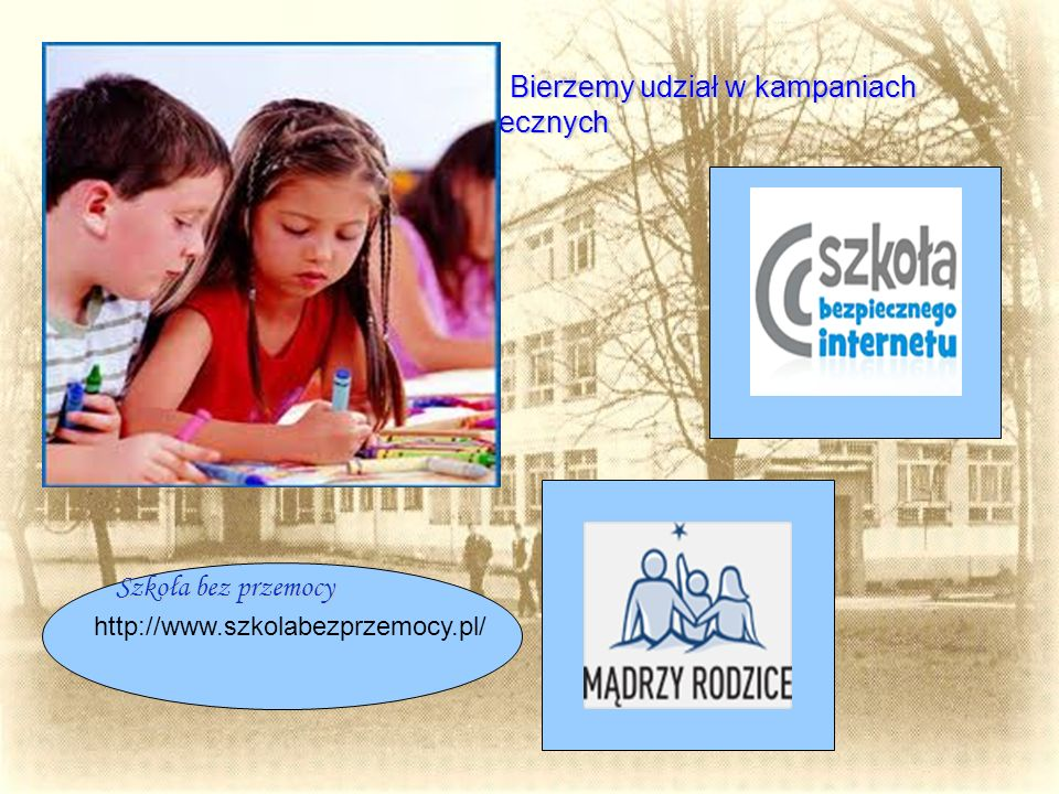 """Wykorzystujemy również programy autorskie oraz innowacje pedagogiczne np.: Terapii pedagogicznej """"Razem raźniej Od przyszłego roku szkolnego w klasach 0 – VI będą: prowadzone zajęcia informatyczne, dodatkowe zajęcia z języka angielskiego."""