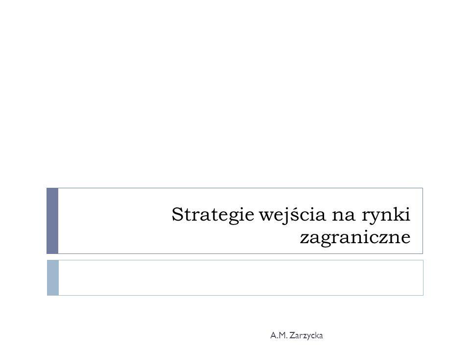 Strategie wejścia na rynki zagraniczne A.M. Zarzycka