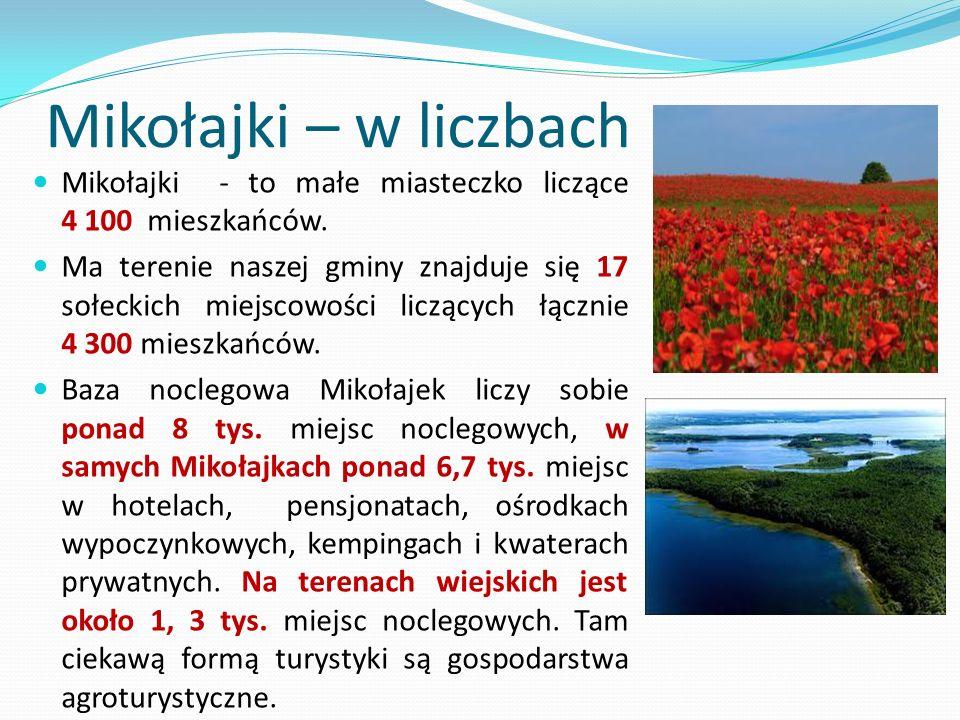 Mikołajki – w liczbach Mikołajki - to małe miasteczko liczące 4 100 mieszkańców.