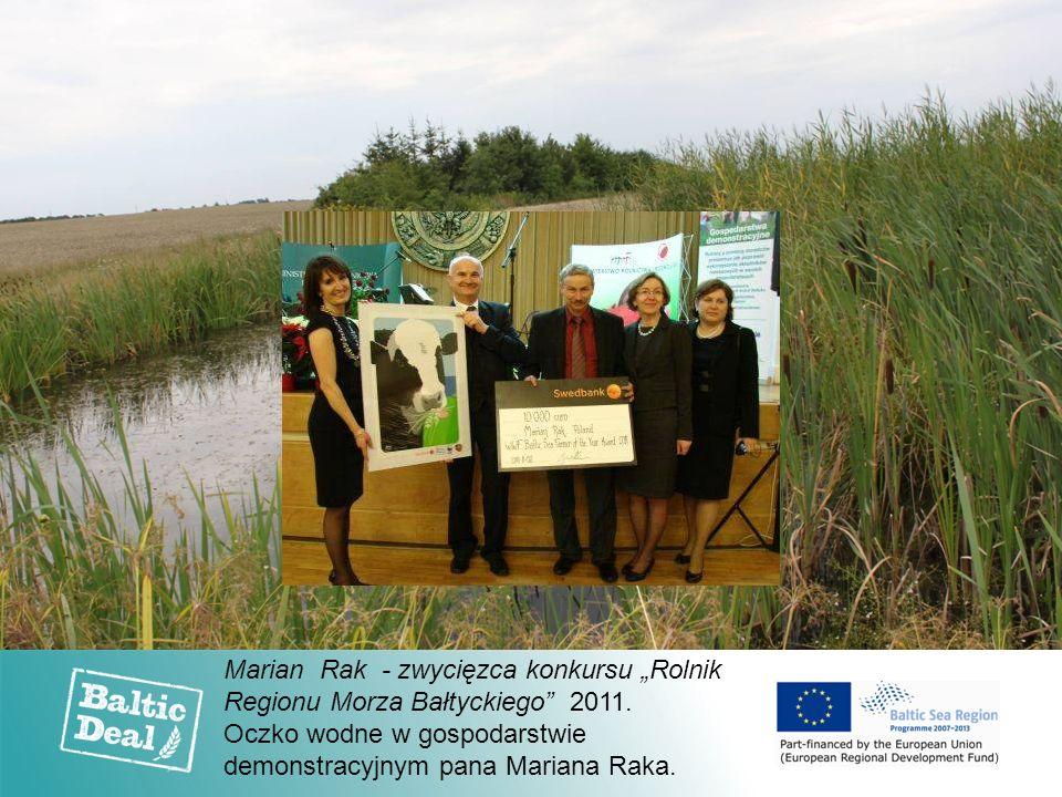 """Marian Rak - zwycięzca konkursu """"Rolnik Regionu Morza Bałtyckiego"""" 2011. Oczko wodne w gospodarstwie demonstracyjnym pana Mariana Raka."""