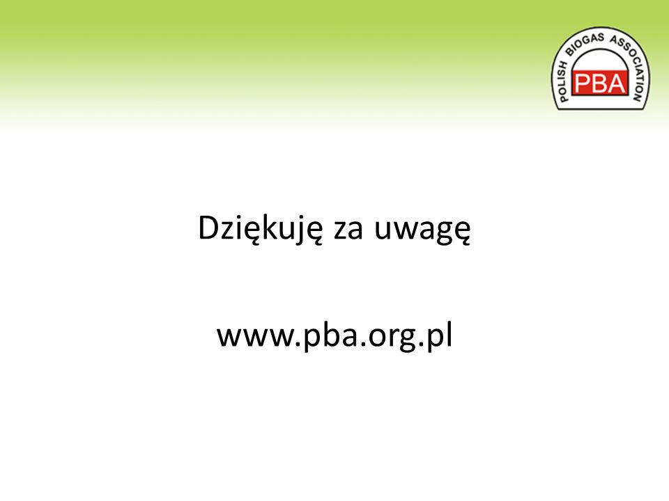Dziękuję za uwagę www.pba.org.pl