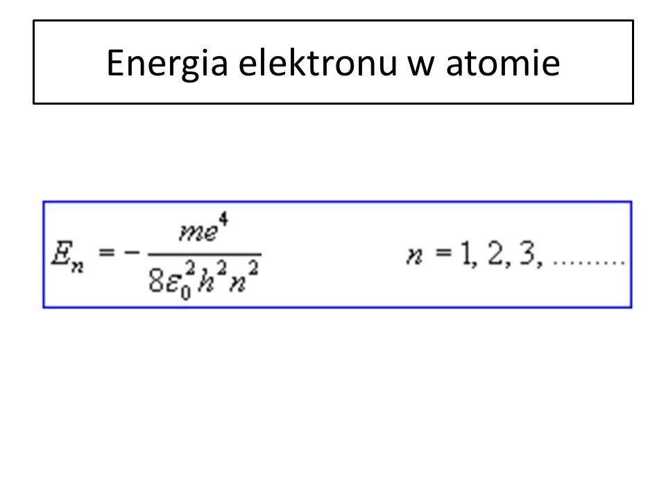 Energia elektronu w atomie