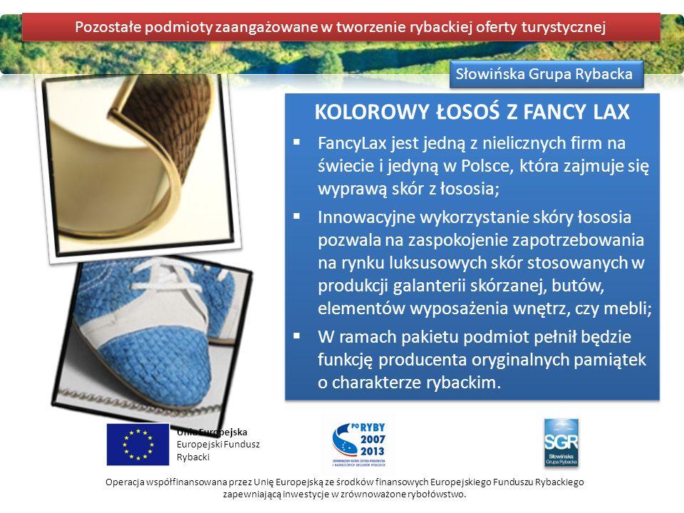 Słowińska Grupa Rybacka Unia Europejska Europejski Fundusz Rybacki Operacja współfinansowana przez Unię Europejską ze środków finansowych Europejskieg