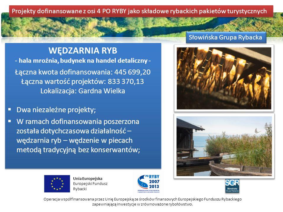 DOMKI DLA WĘDKARZY Kwota dofinansowania: 1 000 000,00 Wartość projektu: 1 257 015,85 Lokalizacja: Duninowo k.