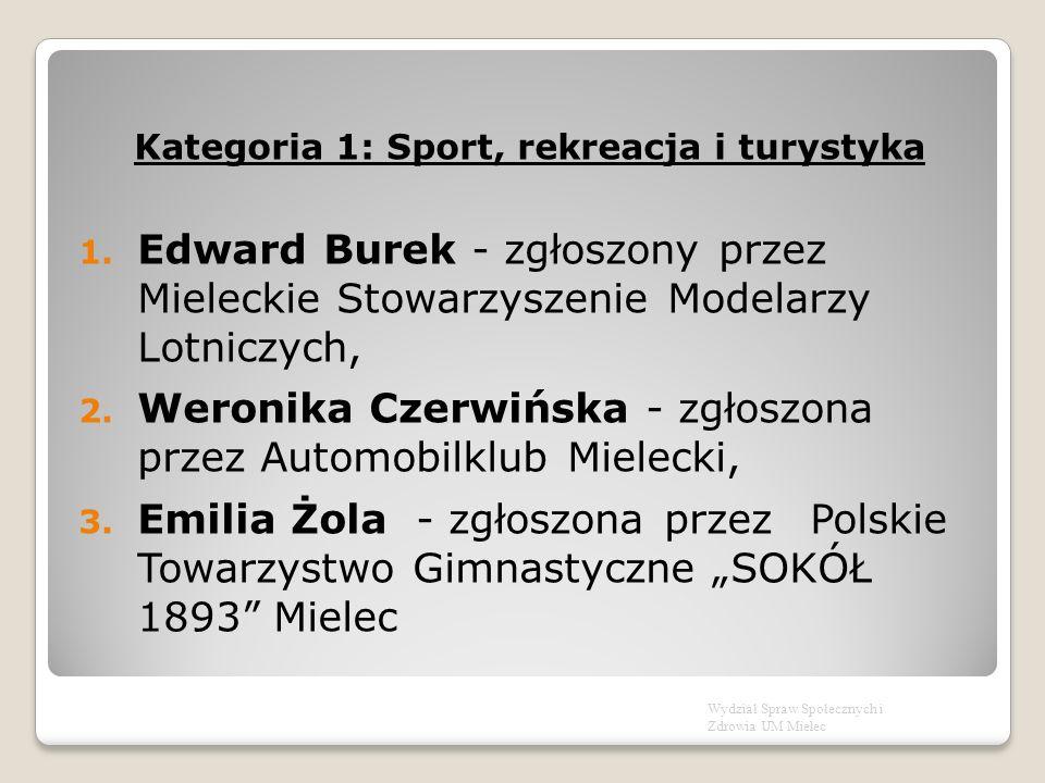Kategoria 1: Sport, rekreacja i turystyka 1.