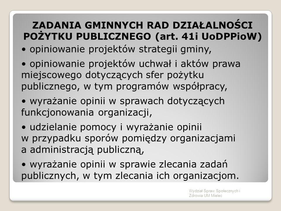 ZADANIA GMINNYCH RAD DZIAŁALNOŚCI POŻYTKU PUBLICZNEGO (art.