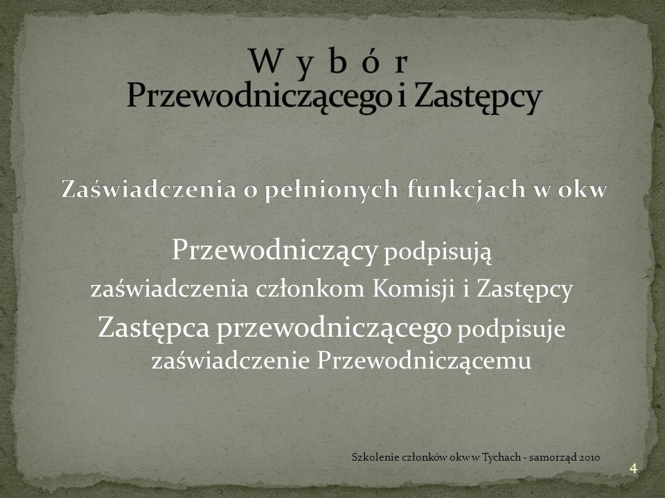Zadania Komisji przed dniem wyborów (punkty 12 – 16 wytycznych) W dniu 20 listopada 2010 r.