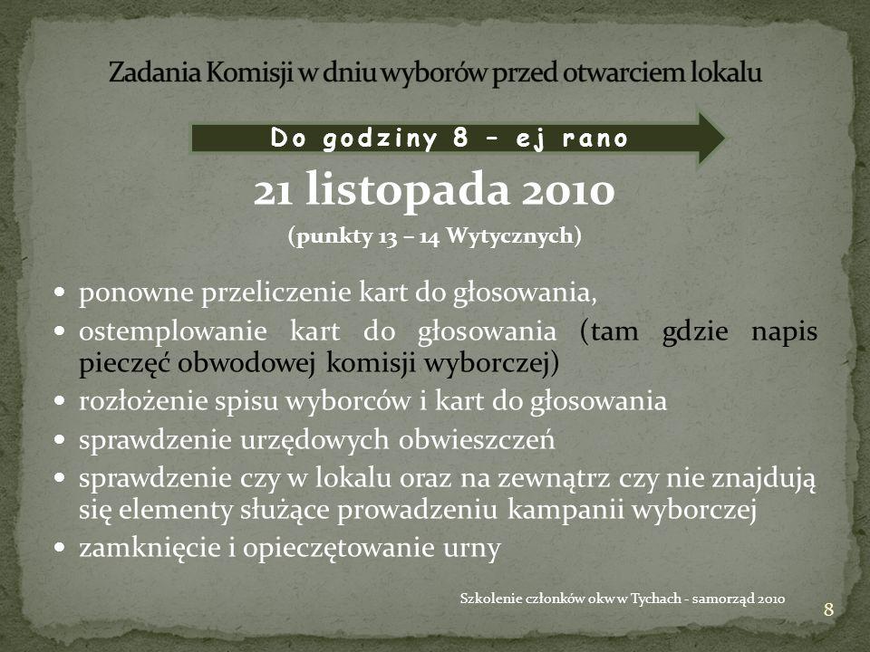 29 Szkolenie członków okw w Tychach - samorząd 2010