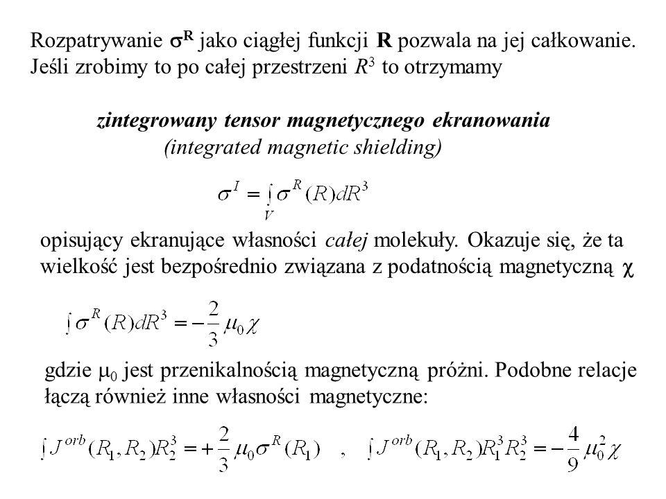 Rozpatrywanie  R jako ciągłej funkcji R pozwala na jej całkowanie.