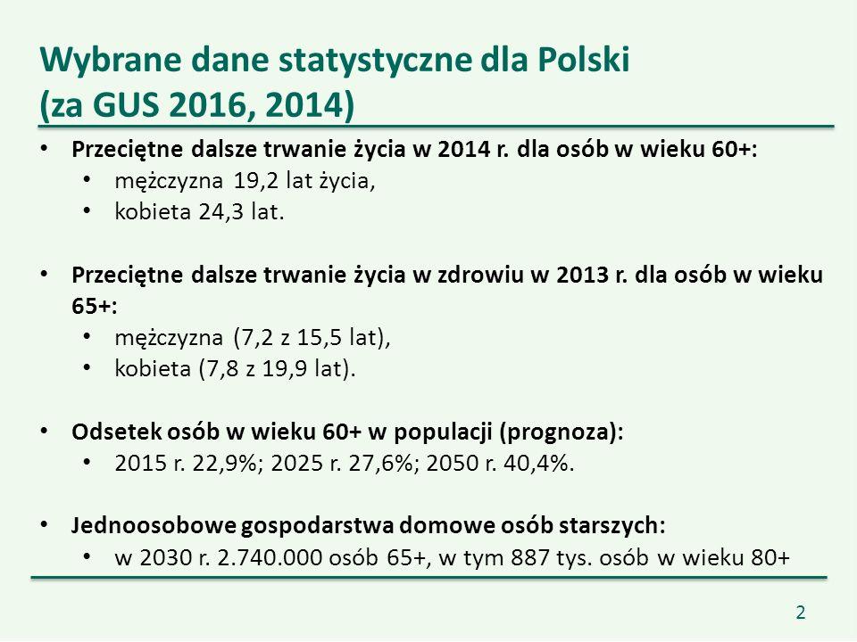 2 Przeciętne dalsze trwanie życia w 2014 r.
