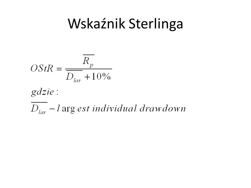 Wskaźnik Sterlinga