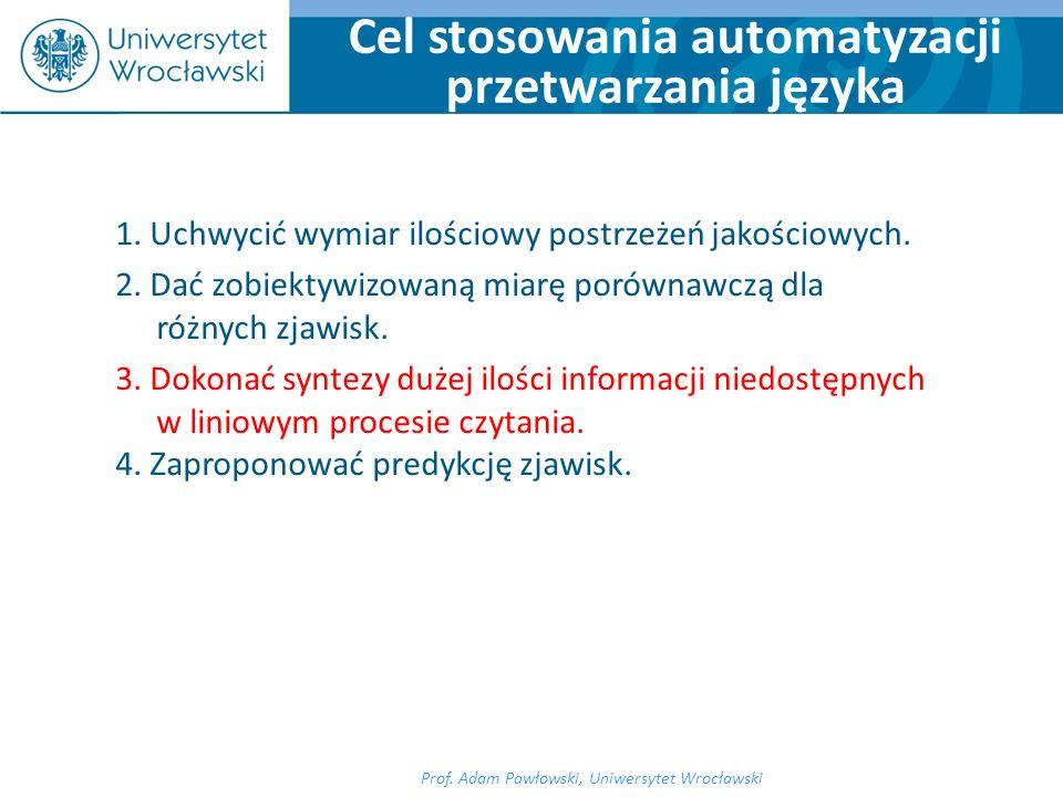 1.Metoda reprezentacyjna (indukcja). 2. Obliczanie parametrów i wskaźników.