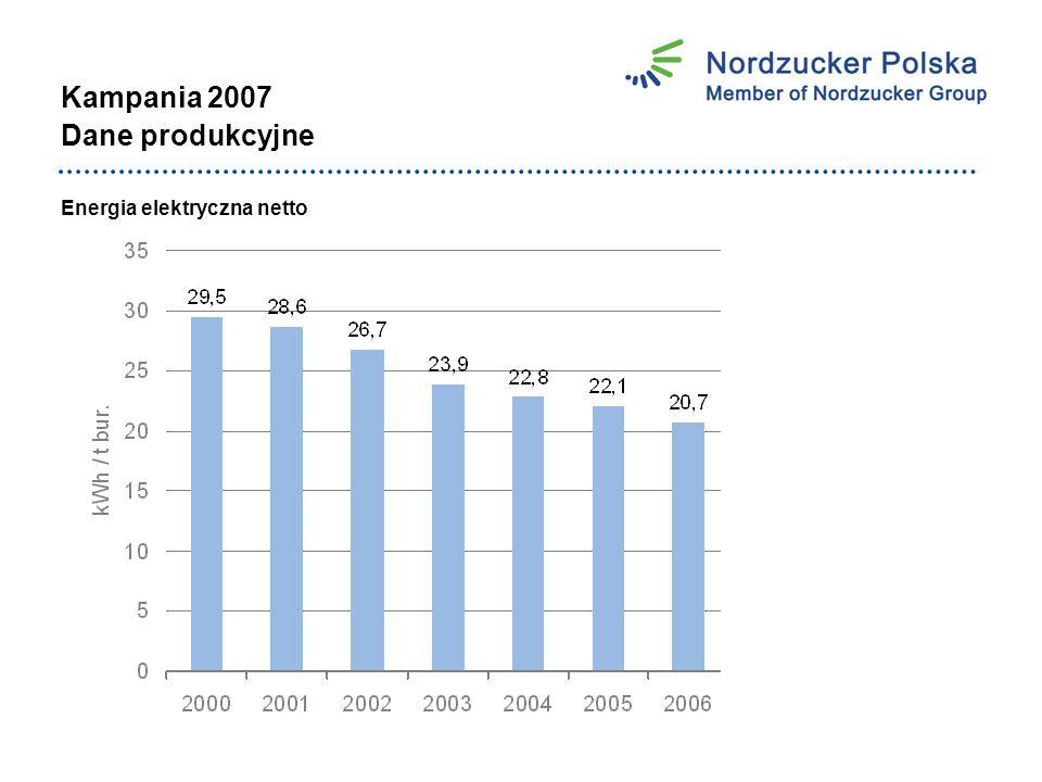Kampania 2007 Dane produkcyjne Energia elektryczna netto