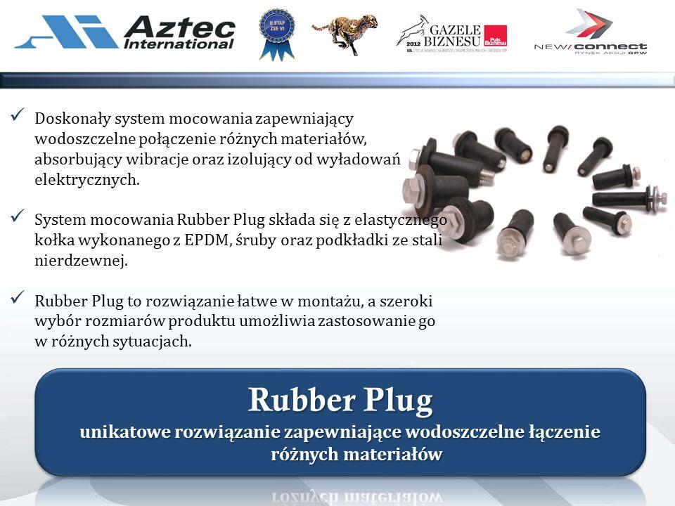 Doskonały system mocowania zapewniający wodoszczelne połączenie różnych materiałów, absorbujący wibracje oraz izolujący od wyładowań elektrycznych.