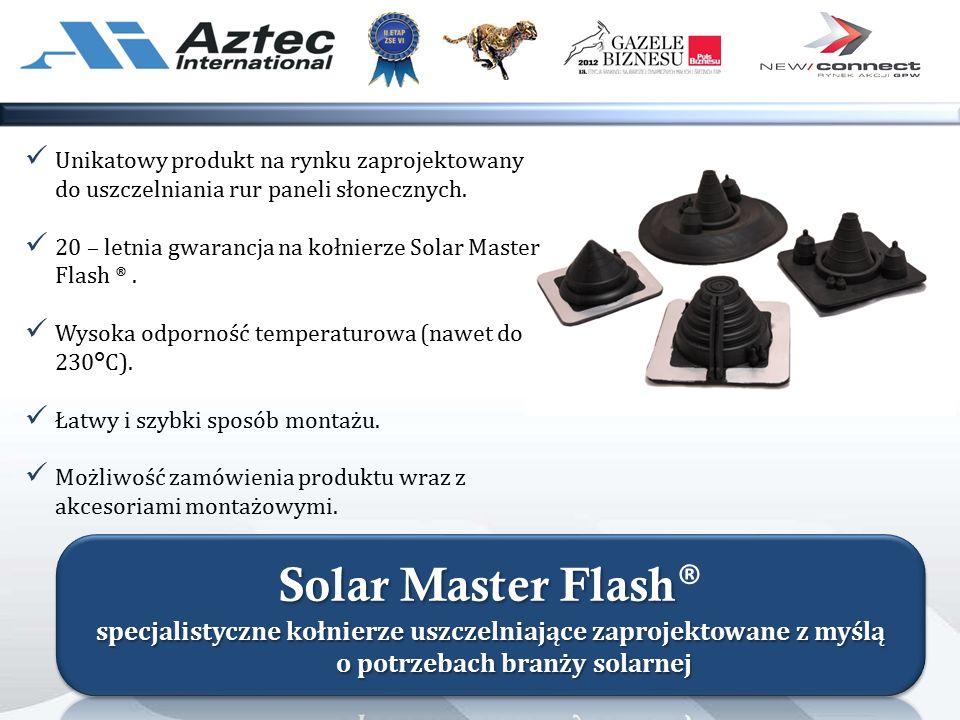 Unikatowy produkt na rynku zaprojektowany do uszczelniania rur paneli słonecznych.