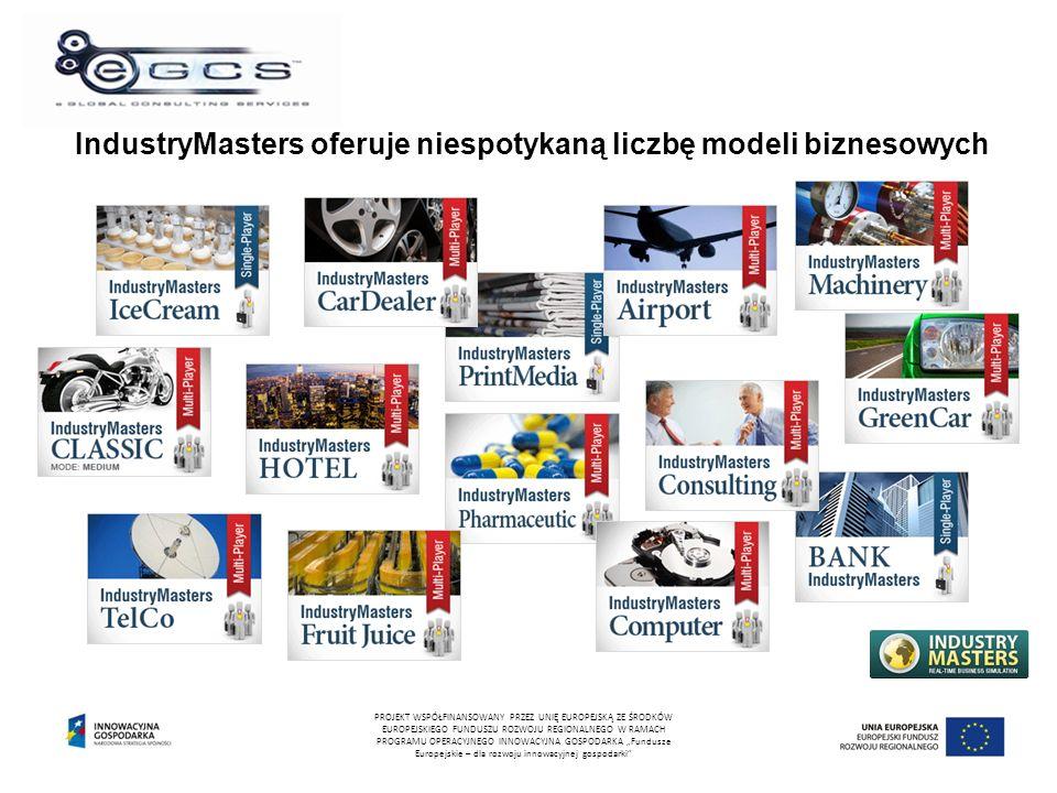 """IndustryMasters oferuje niespotykaną liczbę modeli biznesowych PROJEKT WSPÓŁFINANSOWANY PRZEZ UNIĘ EUROPEJSKĄ ZE ŚRODKÓW EUROPEJSKIEGO FUNDUSZU ROZWOJU REGIONALNEGO W RAMACH PROGRAMU OPERACYJNEGO INNOWACYJNA GOSPODARKA """"Fundusze Europejskie – dla rozwoju innowacyjnej gospodarki"""