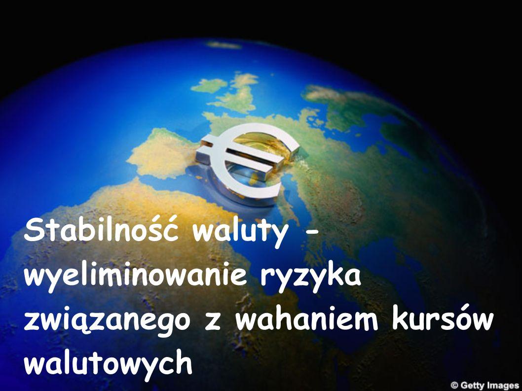 Stabilność waluty - wyeliminowanie ryzyka związanego z wahaniem kursów walutowych