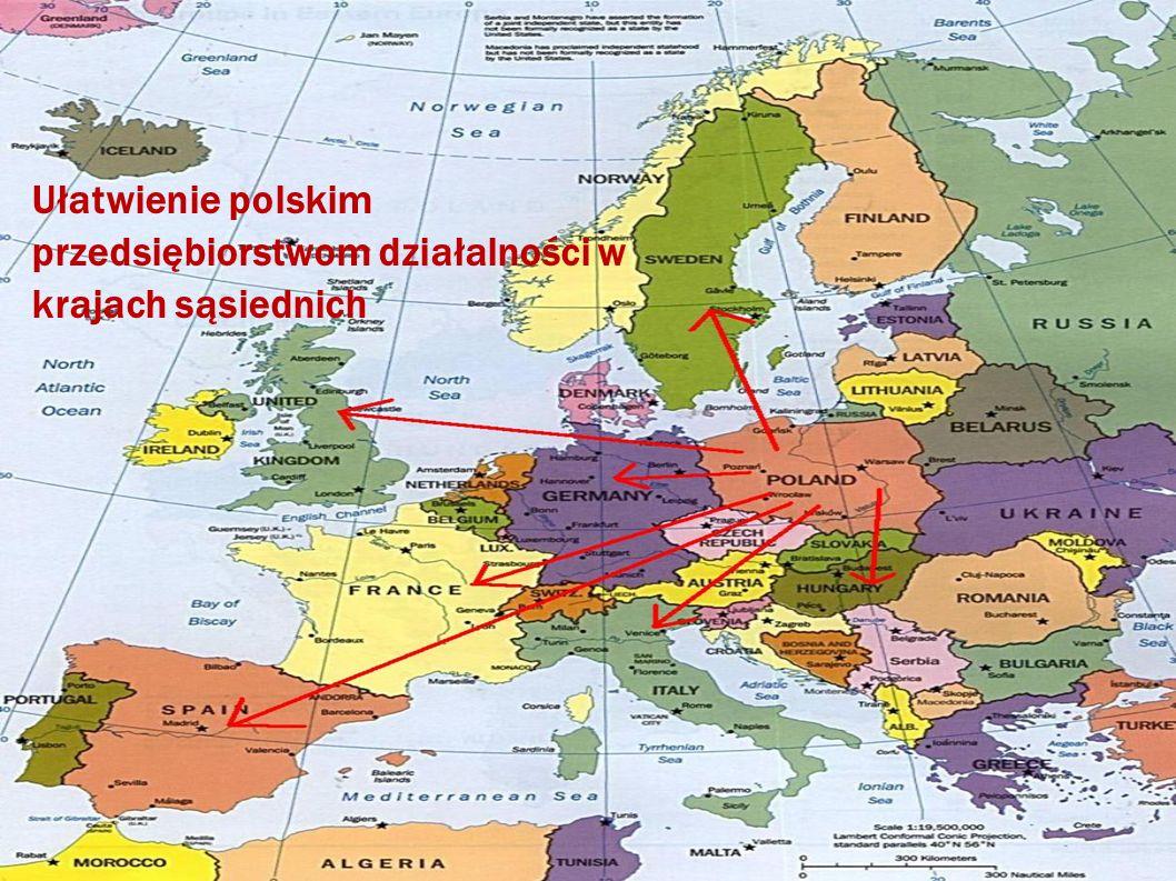 Ułatwienie polskim przedsiębiorstwom działalności w krajach sąsiednich