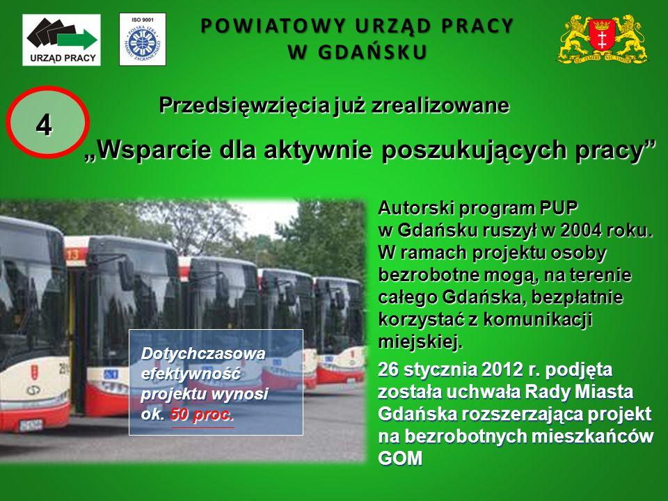 """POWIATOWY URZĄD PRACY W GDAŃSKU """"Wsparcie dla aktywnie poszukujących pracy"""" 26 stycznia 2012 r. podjęta została uchwała Rady Miasta Gdańska rozszerzaj"""
