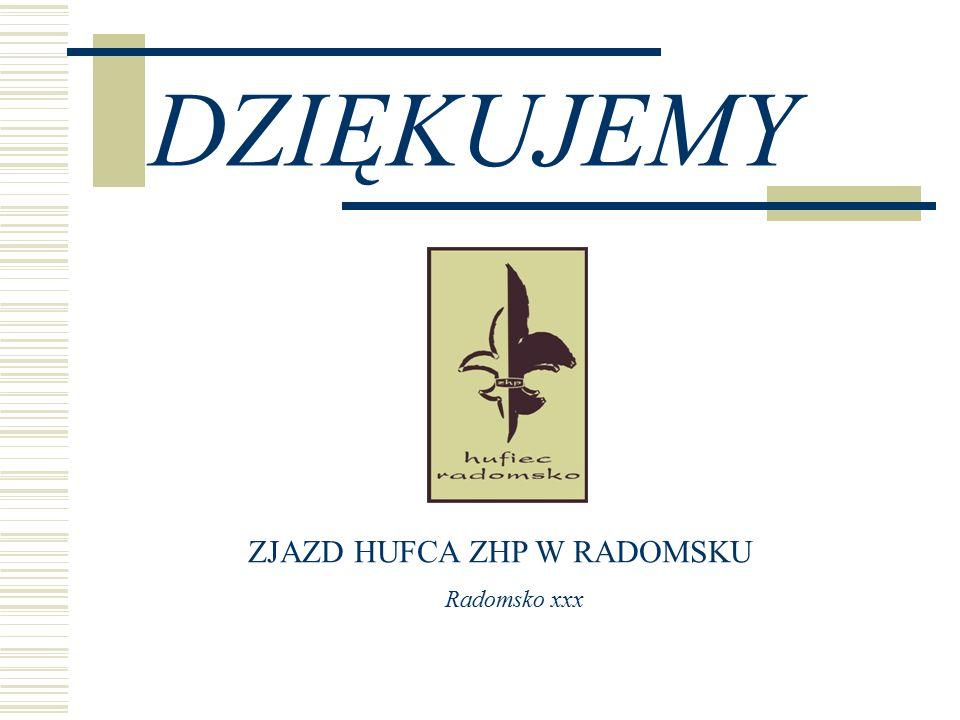 DZIĘKUJEMY ZJAZD HUFCA ZHP W RADOMSKU Radomsko xxx