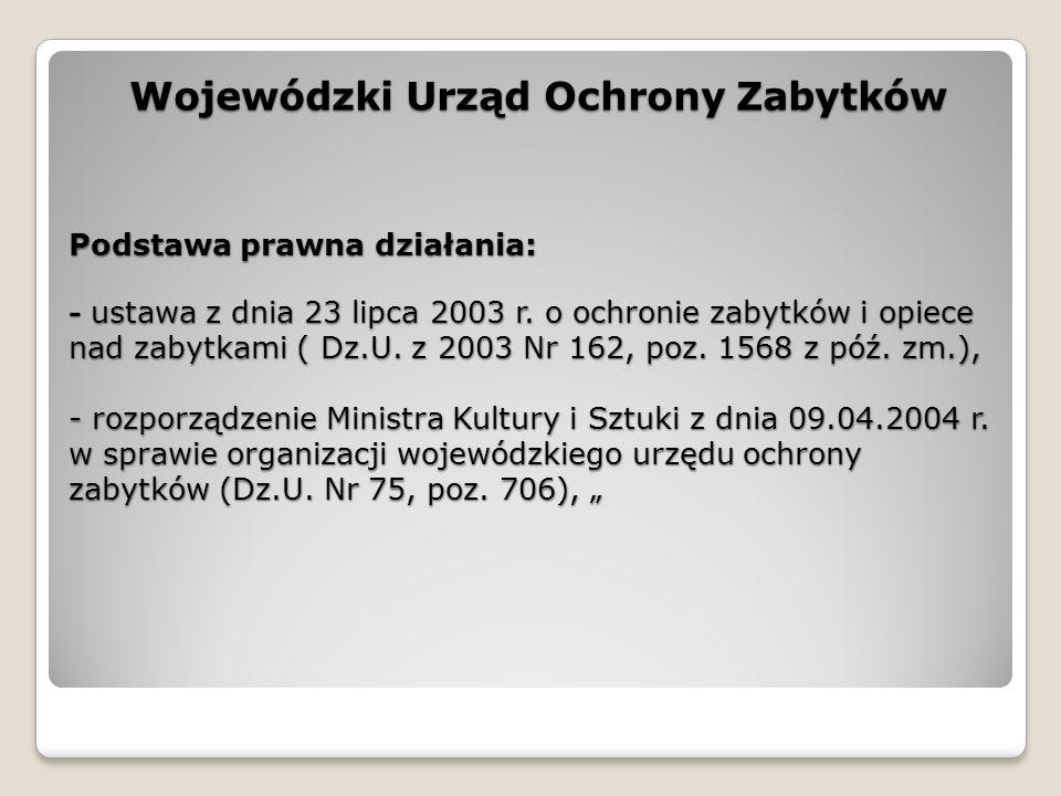 Podstawa prawna działania: - ustawa z dnia 23 lipca 2003 r.